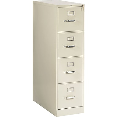 HON 210 Series Vertical File Cabinet, 28 1/2in. 4-Drawer, Letter Size, Putty