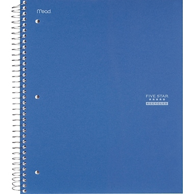 Mead Five Star® 1 Subject Notebook, 8-1/2in. x 11in.