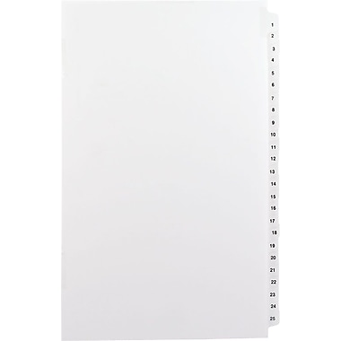 Avery® Numerical Collated Legal Divider Set Paper Stock, White, 26-50 Tabs (01431)
