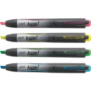 Staples® Hype!™ Retractable Highlighters, Assorted, 4/Pack