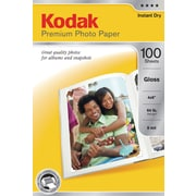 "Kodak Premium Photo Paper, 4"" x 6"", Gloss, 100/Pack"