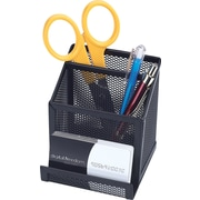 Staples® Metal Mesh Pencil And Card Holder, Black