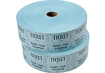 Staples® Double Ticket Roll, 2 Rolls
