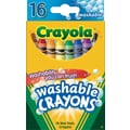 Crayola® Washable Crayons, 16/Box