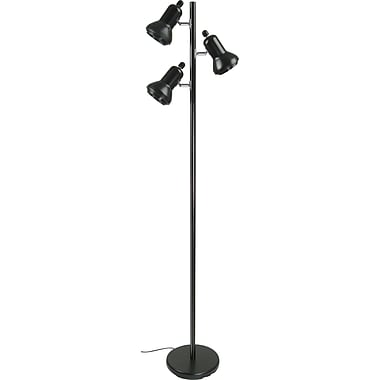 Tensor® 3-Light Incandescent/CFL Floor Lamp, Black Steel