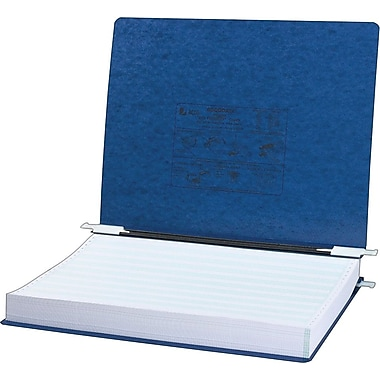 Acco PRESSTEX® Data Binder with Storage Hooks, Dark Blue, 14 7/8in. X 11in.