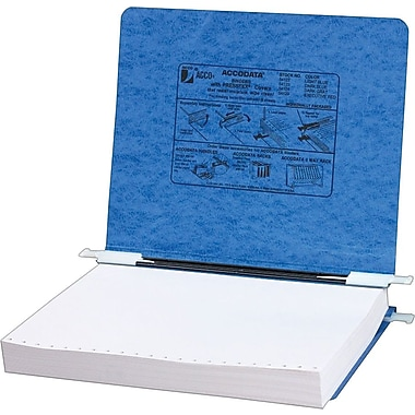 Acco Hanging Data Binders Presstex® Covers, Light Blue, 8 1/2in. x 12in.