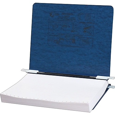 Acco® Hanging Data Binders Presstex® Cover, Dark Blue, 11in. x 8 1/2in.