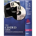 Avery 5694 Permanent Laser CD/DVD Labels, 40 Disk/80 Spine Labels, Clear