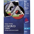 Avery 8942 Permanent Inkjet CD Labels, 20 Disc/40 Spine Labels, Glossy White