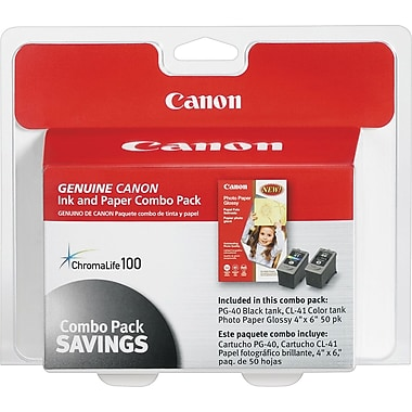 Canon PG-40/CL-41 Black and Color Ink Cartridge (0615B009) Photo Value Combo 2/Pack