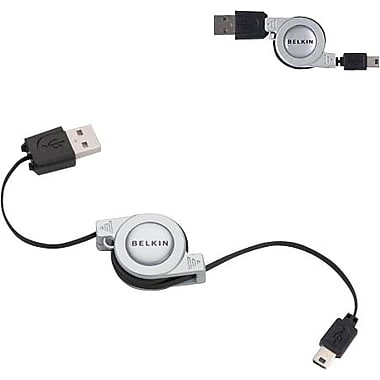 Belkin 2.6' 5-Pin Mini-B Retractable USB Cable