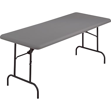 Iceberg 8' Heavy-Duty Commercial Resin Folding Banquet Table, Charcoal