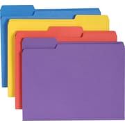 Smead® Antimicrobial Top-Tab Folders, Letter, 3 Tab, Assorted, 100/Box