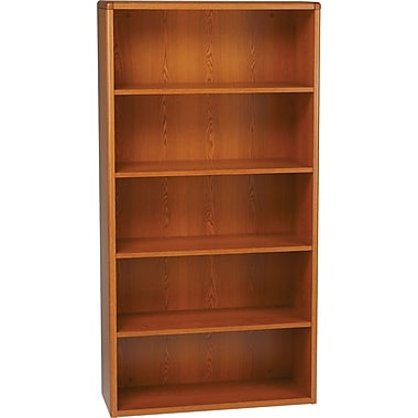HON 10700 Series, 5-Shelf Bookcase, Henna Cherry