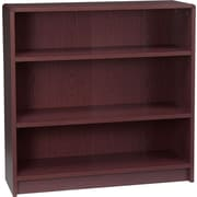 HON® Radius Edge Laminate 35H, 3-Shelf Bookcase, Mahogany