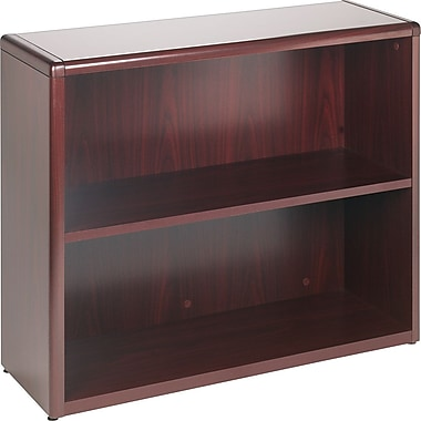 HON 10700 Series 2-Shelf Bookcase, Mahogany