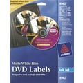 Avery 8962 Permanent Inkjet DVD Labels, 20 Disc/40 Spine Labels, White Matte