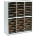 Safco® Value Sorter Literature Organizer, 36 Compartment, 32 1/4in. x 13 1/2in. x 38in., Gray