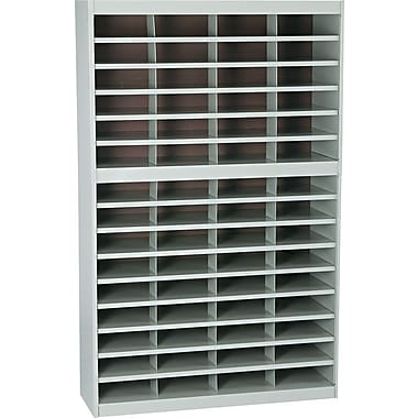 Safco® EZ STOR Literature Organizer, 60 Compartment, 37 1/2in.x 12 3/4in.x 60in., Gray