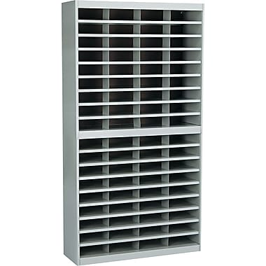Safco® EZ STOR Literature Organizer, 72 Compartment, 37 1/2in.x 12 3/4in.x 71in., Gray