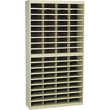Safco® EZ STOR Literature Organizer, 72 Compartment, 37 1/2in.x 12 3/4in.x 71in., Tropic Sand