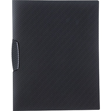 Staples® Textured Poly Swing Arm Report Cover, Black