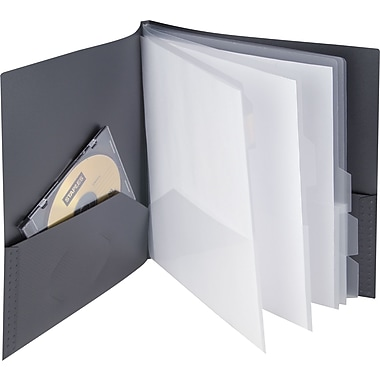 Staples® Textured 10 Pocket Presentation Book