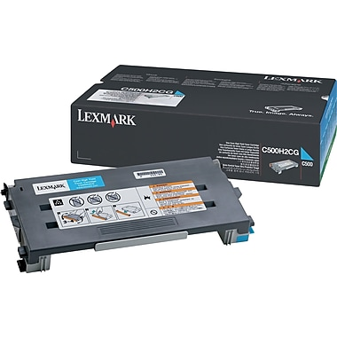 Lexmark C500H2CG Cyan Toner Cartridge, High Yield