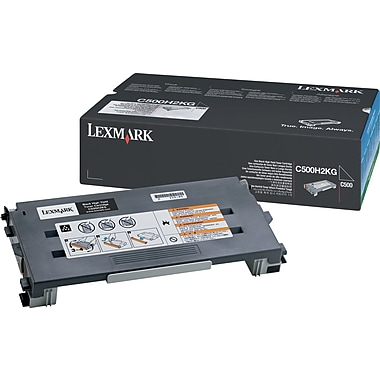 Lexmark C500H2KG Black Toner Cartridge, High Yield