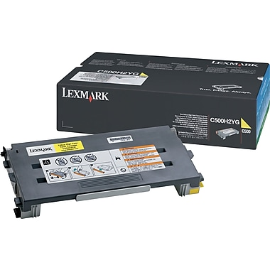 Lexmark C500H2YG Yellow Toner Cartridge, High Yield