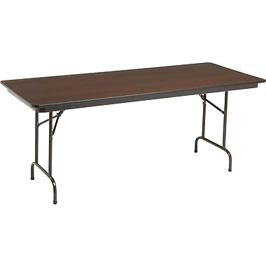 Global Melamine Folding Banquet Tables, Walnut
