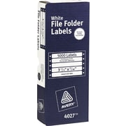 File Folder Labels for Dot Matrix Printers, White, 7/16 x 3-1/2, 5000/Box