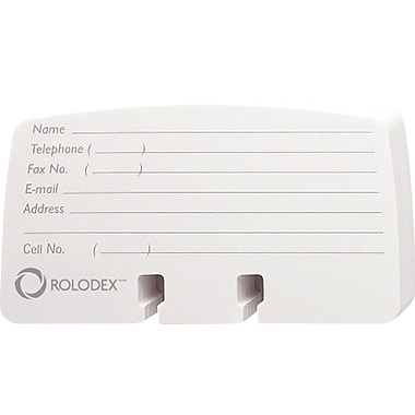 Rolodex Ruled Petite Cards, 2 1/4in. x 4in., 100/Pack
