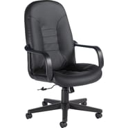Global Leather Manager's Chair, Black
