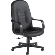Global® Leather Manager's Chair, Black