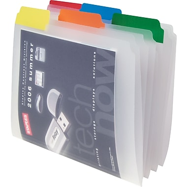 Staples Clear File Folders, Letter, Assorted, 25/Box
