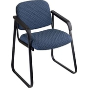 Office Star™  Deluxe Sled Base Guest Chair with Arms, Cadet Blue
