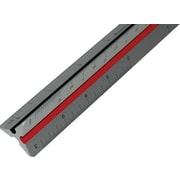 "Staedtler® Mars® Metal 12"" Architect's Triangular Scale with Color-Coded Grooves"