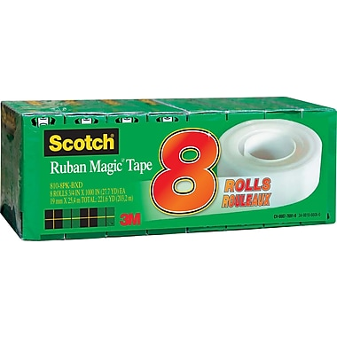 Scotch™ Magic Tape, Boxed, 19 mm x 25 m, 8/Pack