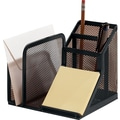 Rolodex Expressions Black Wire Mesh Desk Director
