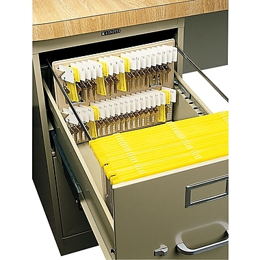 MMF Industries™ File Drawer Key Rack, Sand, 40 Key Capacity, 10in. x 12in. x 1 3/4in.