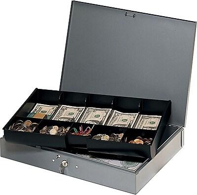 MMF Industries Steelmaster Cash Box, Gray (2215CBTGY)