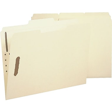 Smead® 100% Recycled Acid-Free Reinforced-Tab Manila Fastener Folders, Legal, 50/Box