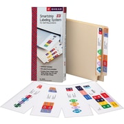 "Smead Smartstrip™ Labeling System Starter Kit With CD Software, Assorted Colors, 1 1/2""H x 7 1/2""W, 50 Labels/Kt"