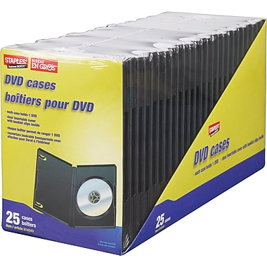 Staples DVD Cases, 25/Pack