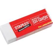Staples® - Gomme à effacer blanche en vinyle, paq./2