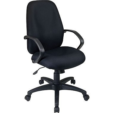 Office Star Distinctive High-Back Fabric Executive Chair, Black