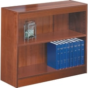 SAFCO Workspace Square Edge Veneer 2-Shelf Bookcase, Medium Oak