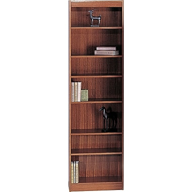 SAFCO Workspace Veneer Baby 24in. Wide Bookcase, Medium Oak, 7-Shelf
